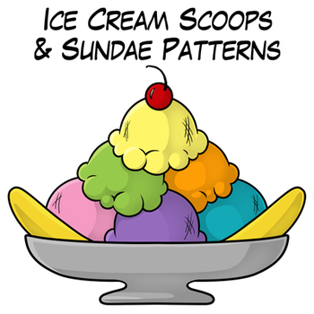Multiplication clipart ice cream. Scoops and sundae patterns