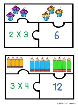 Multiplication clipart math group. Equal groups game for