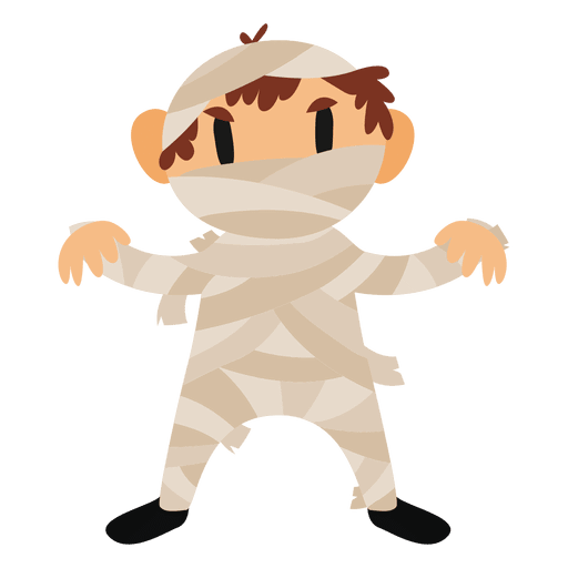 Halloween png cartoon. Mummy costume transparent svg