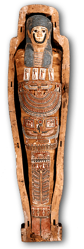 Mummy transparent coffin. Egyptian and png stickpng