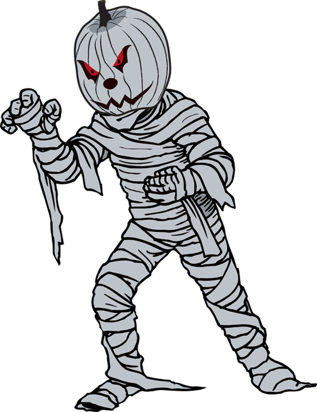 Mummy transparent halloween. Cliparts for free