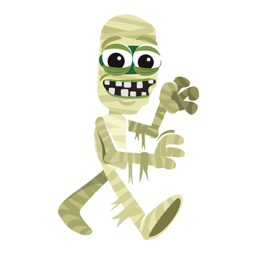 Mummy transparent space. Halloween character png svg