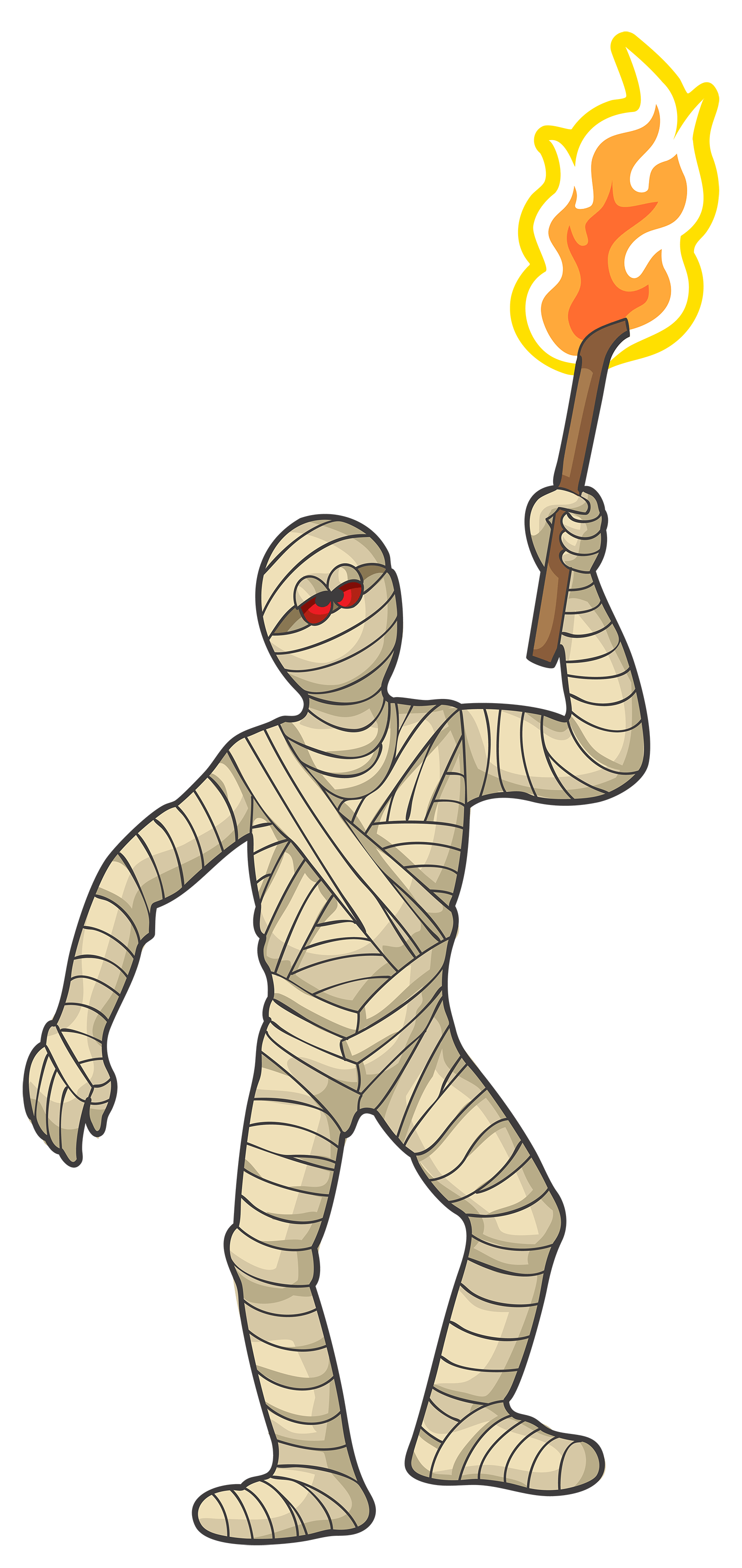 Mummy transparent. With torch png stickpng