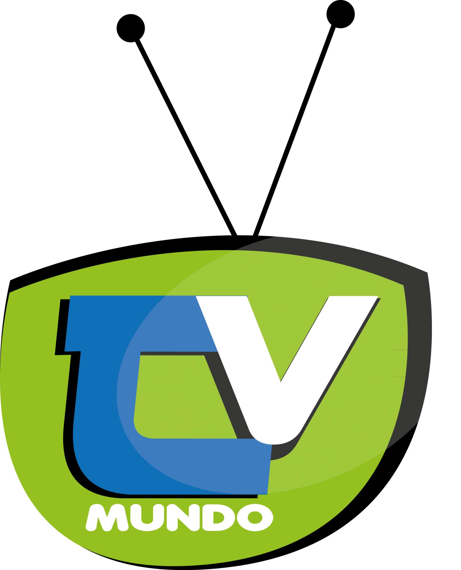 Mundo vector. Tv logo brands of