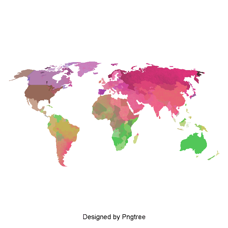 Mundo vector. Color world map de