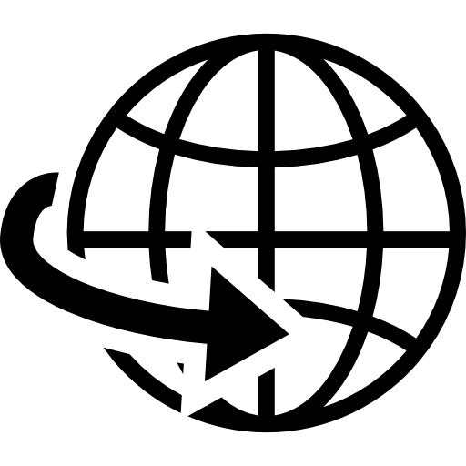 Mundo vector icon. Earth globe grid symbol
