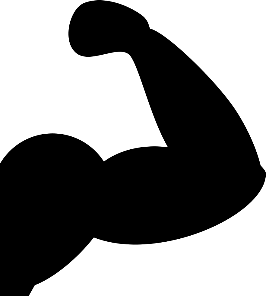 Muscles silhouette at getdrawings. Png muscle arms banner library library