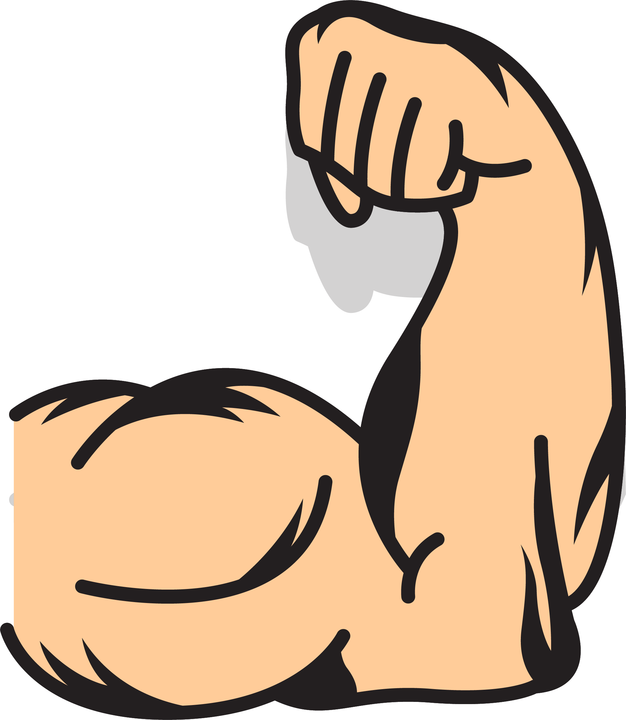 Clip art strong transprent. Muscle arms png clipart stock