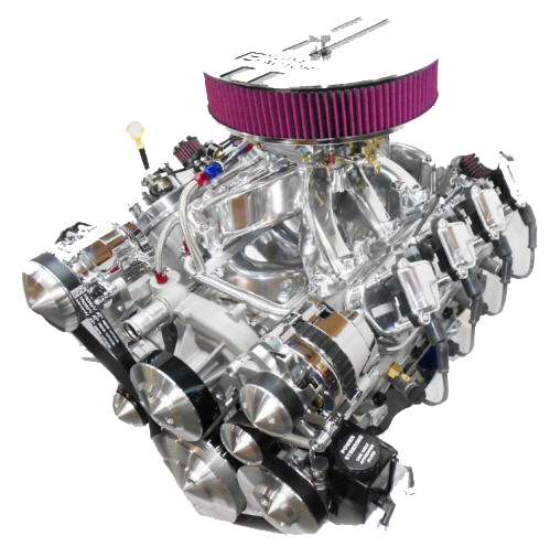 Transparent engine. Ls chevy stroker hp