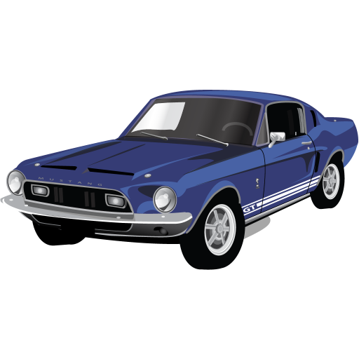 Muscle car png. Mustang gt icon classic