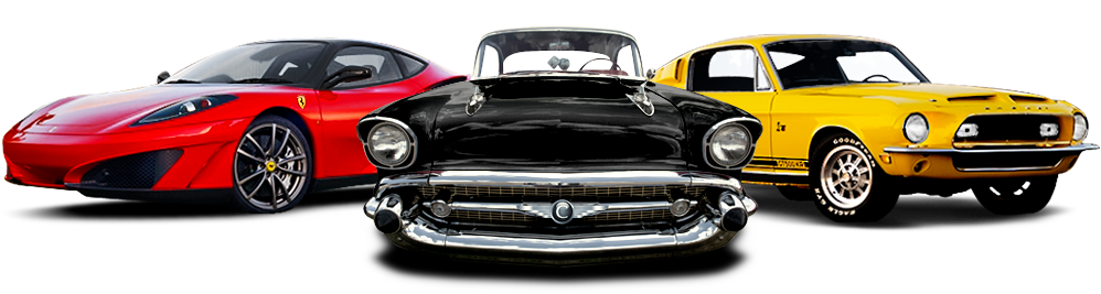 Muscle cars png file. Classic car transparent background