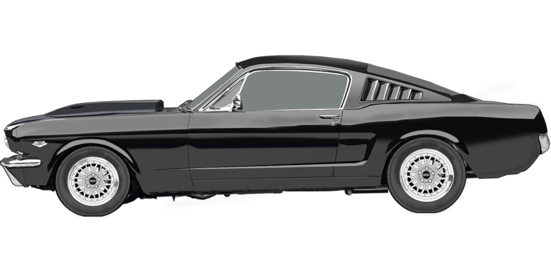 Muscle cars png file black and white. Download free classic car