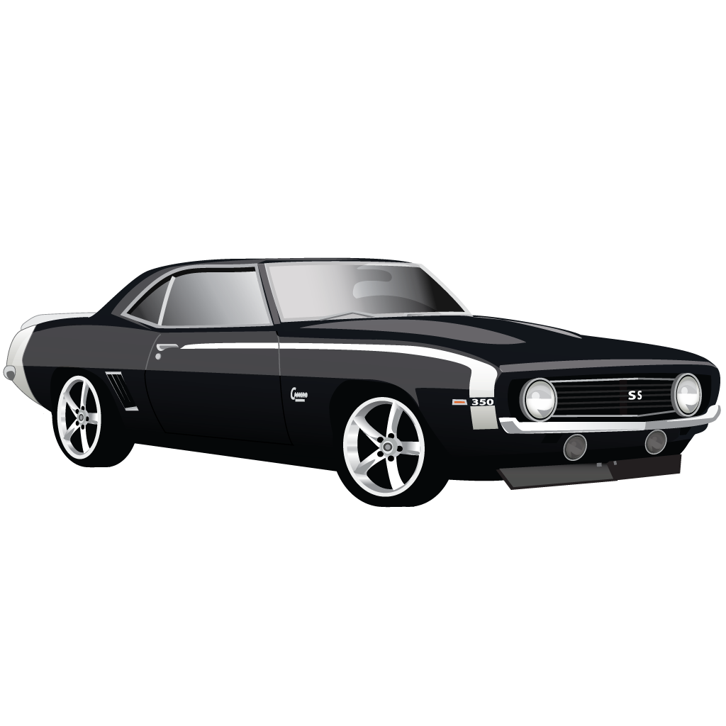 Muscle cars png file black and white. Car chevrolet camaro ss