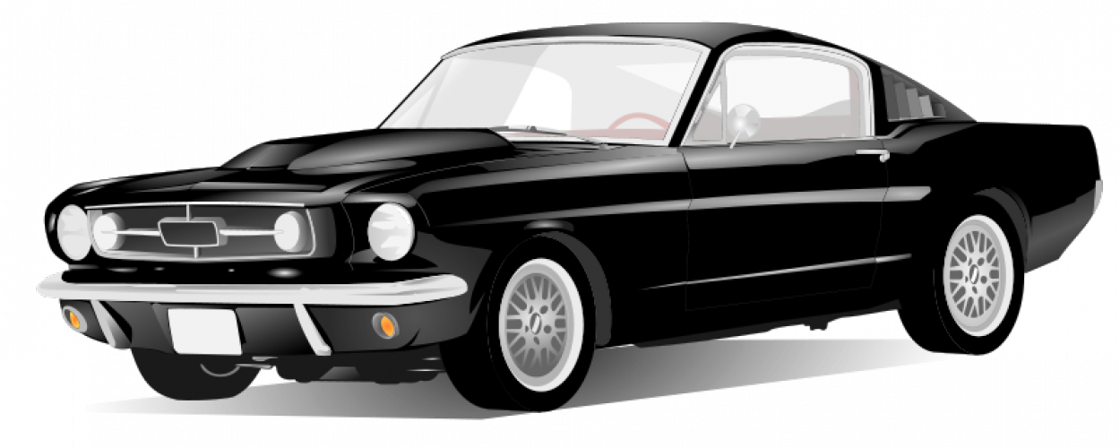 Muscle cars png file black and white. Free car drawings download