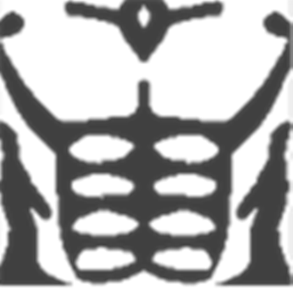 Clipart images . Roblox muscle t shirt png svg black and white stock