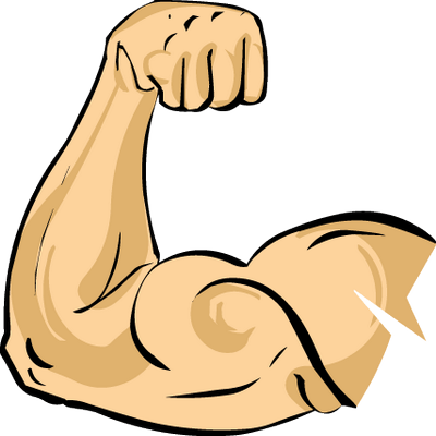 Muscle clipart arm outline. Graphic free stock