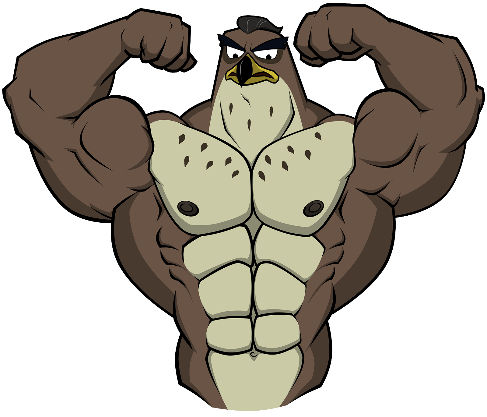 Muscle clipart falcon. Graves shaded by wolfoxokamichan
