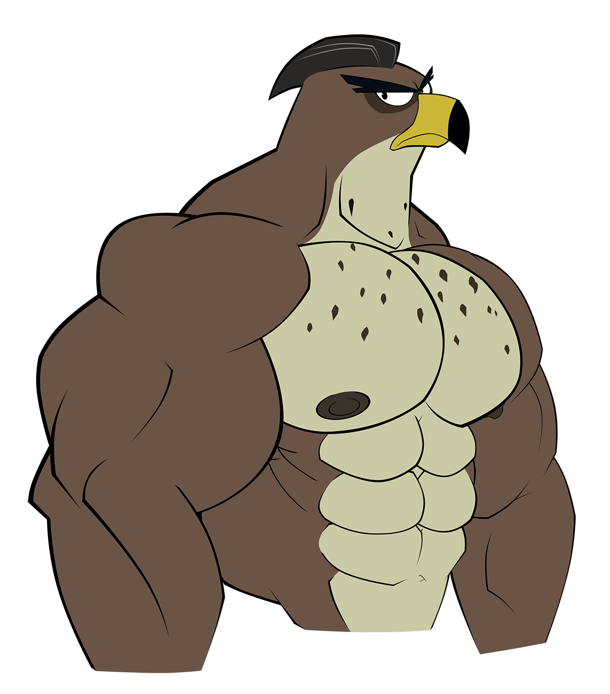 Muscle clipart falcon. Mr graves by wolfoxokamichan