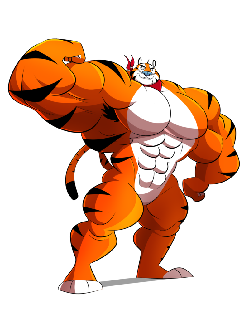 Muscle comic png. Image tony the tiger