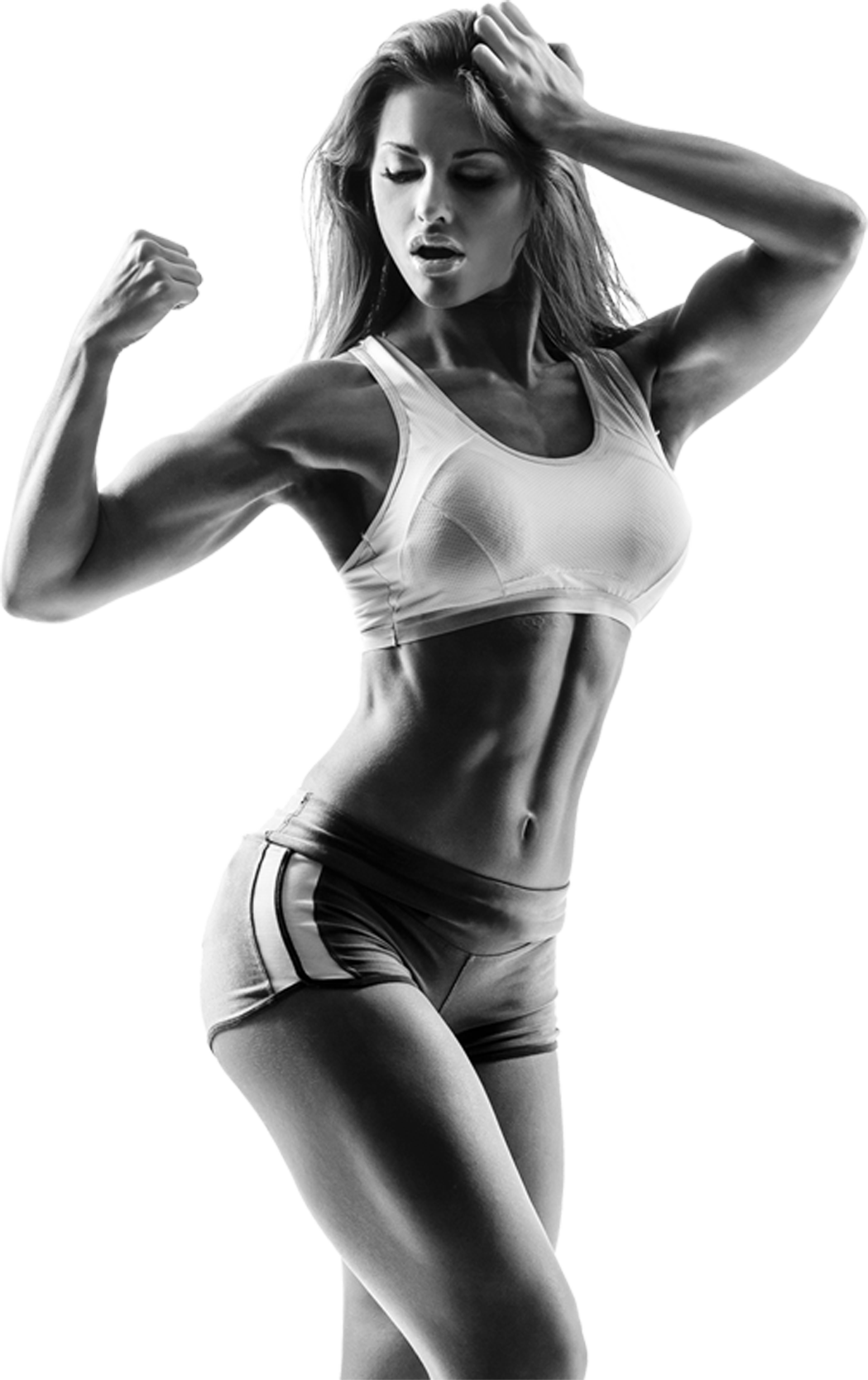 Muscle girl png. She lifts strength training