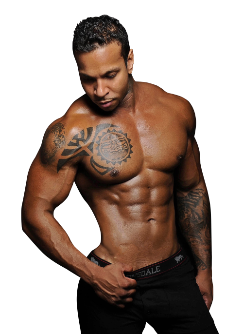 Muscle pose chest png. Fit young male model