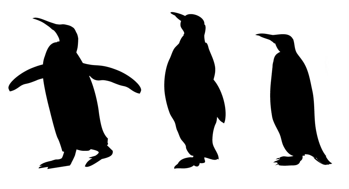 Muscles clipart penguin. Silhouette clip art at