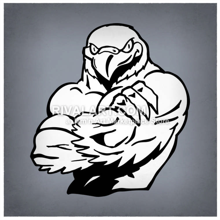 Muscles clipart tough. Falcon with vector of