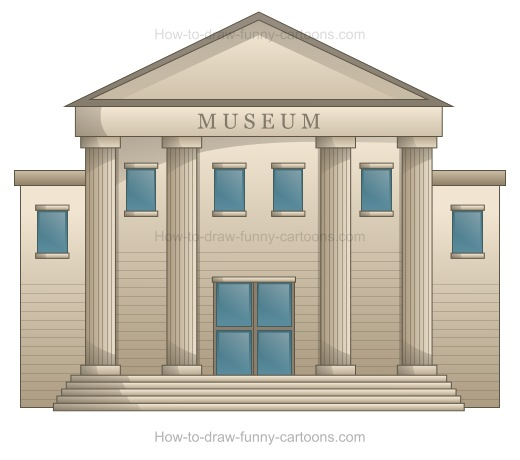 Museum clipart cartoon. How to draw a