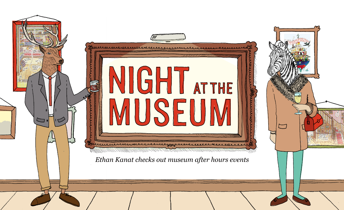 Museum clipart exhibit. Night at the bold