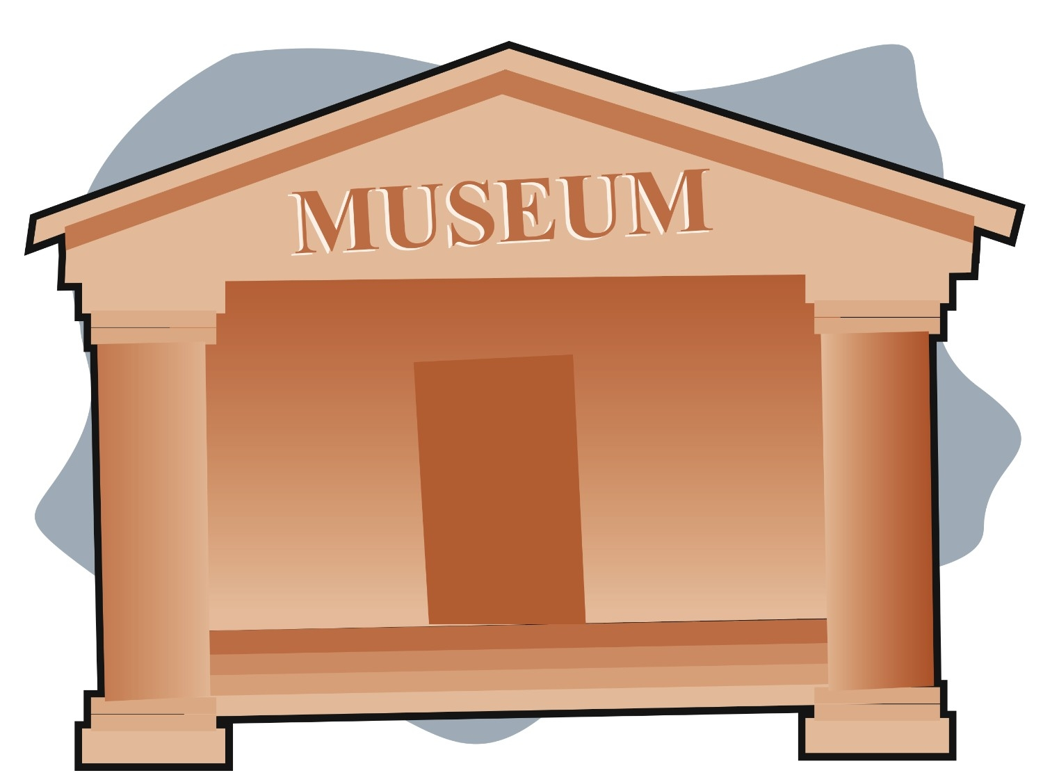 Museum clipart exhibit. Free illustration of kids