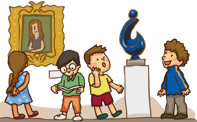Museum vector animated. Clip black and
