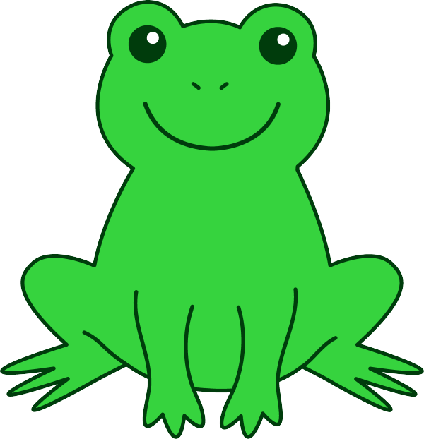 Drawing frogs tree frog. Cute toad pictures