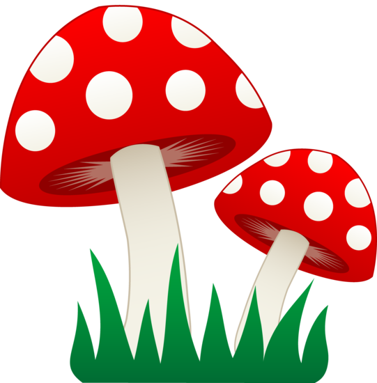 Mushrooms clipart silhouette. Red and white kawaii