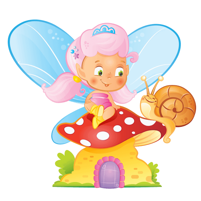 Transparent fairy kid. Fairies and elves wall
