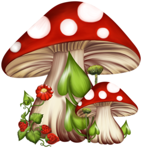 drawing mushrooms pretty