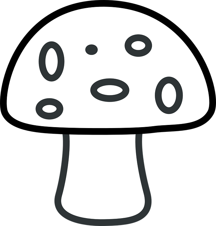 Mushrooms clipart silhouette. Easy coloring pages stencils