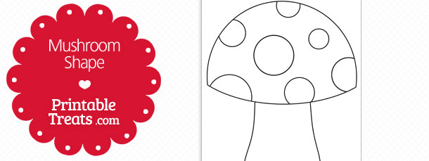 Mushroom clipart printable. Shape template treats com