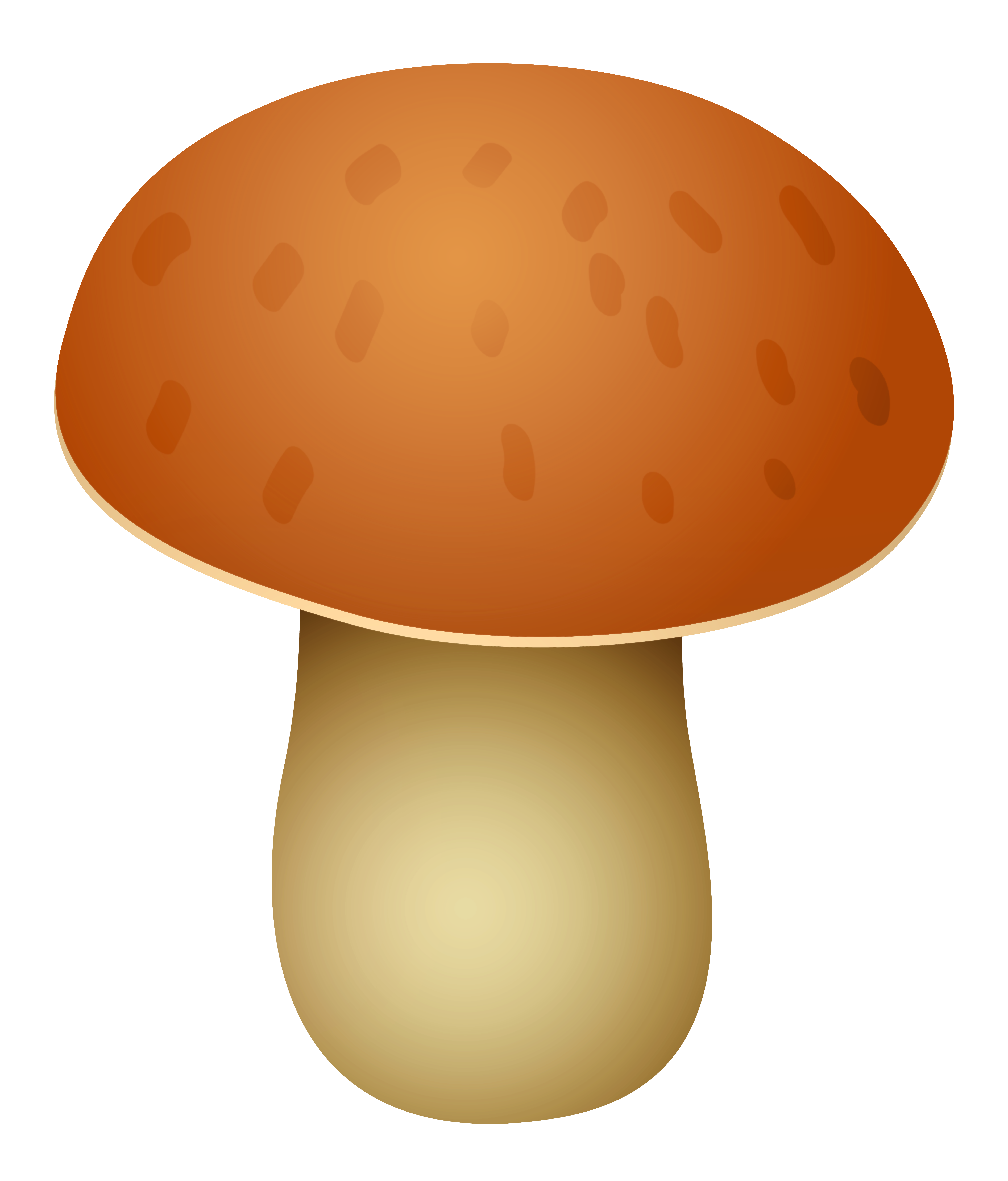 Mushroom clipart realistic. Brown spotted png best