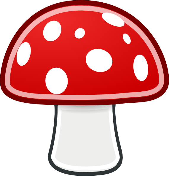 Mushroom clip art free. Drawing shrooms easy banner transparent library