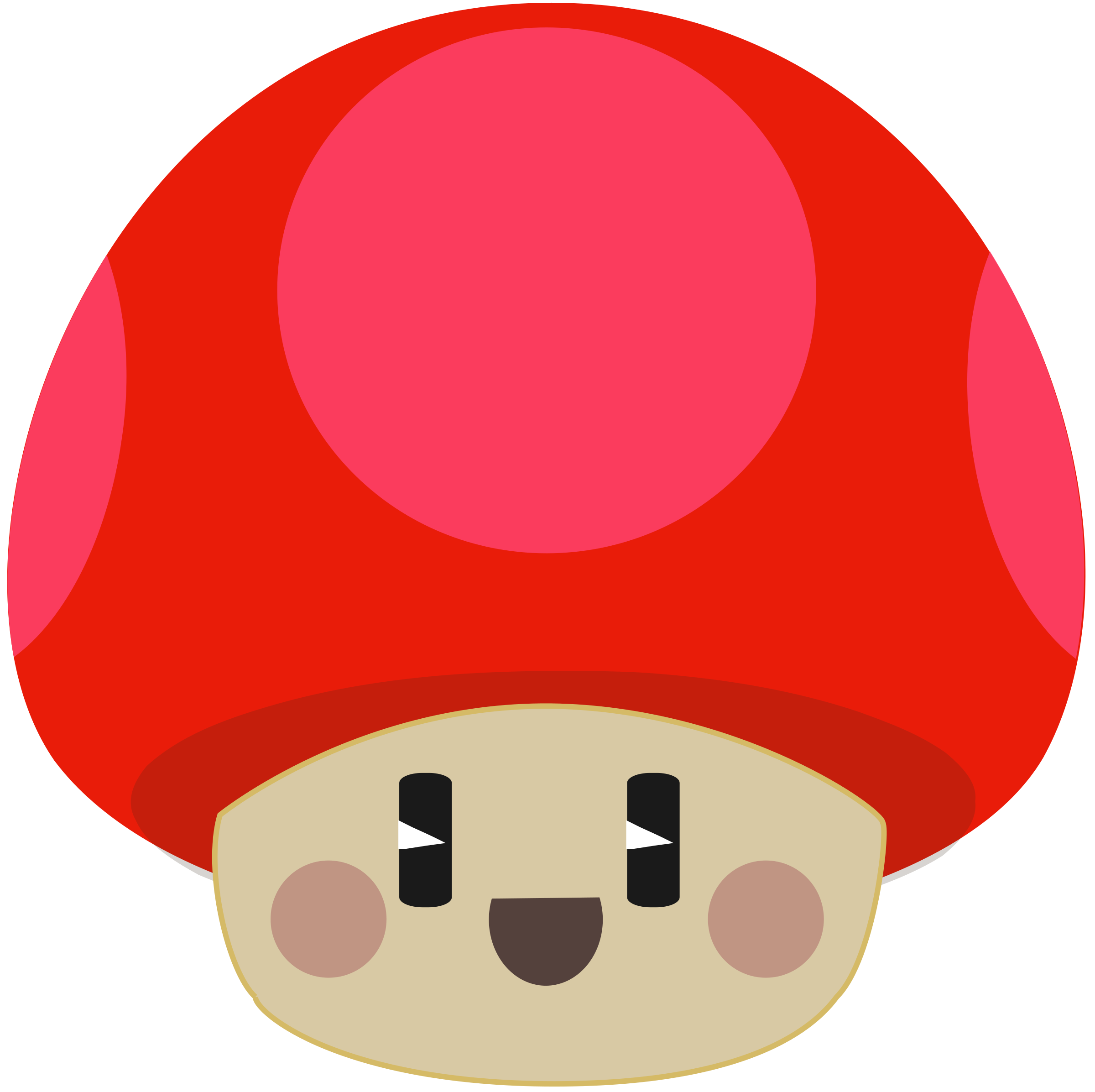 Mushrooms clipart animated. Cute mushroom at getdrawings