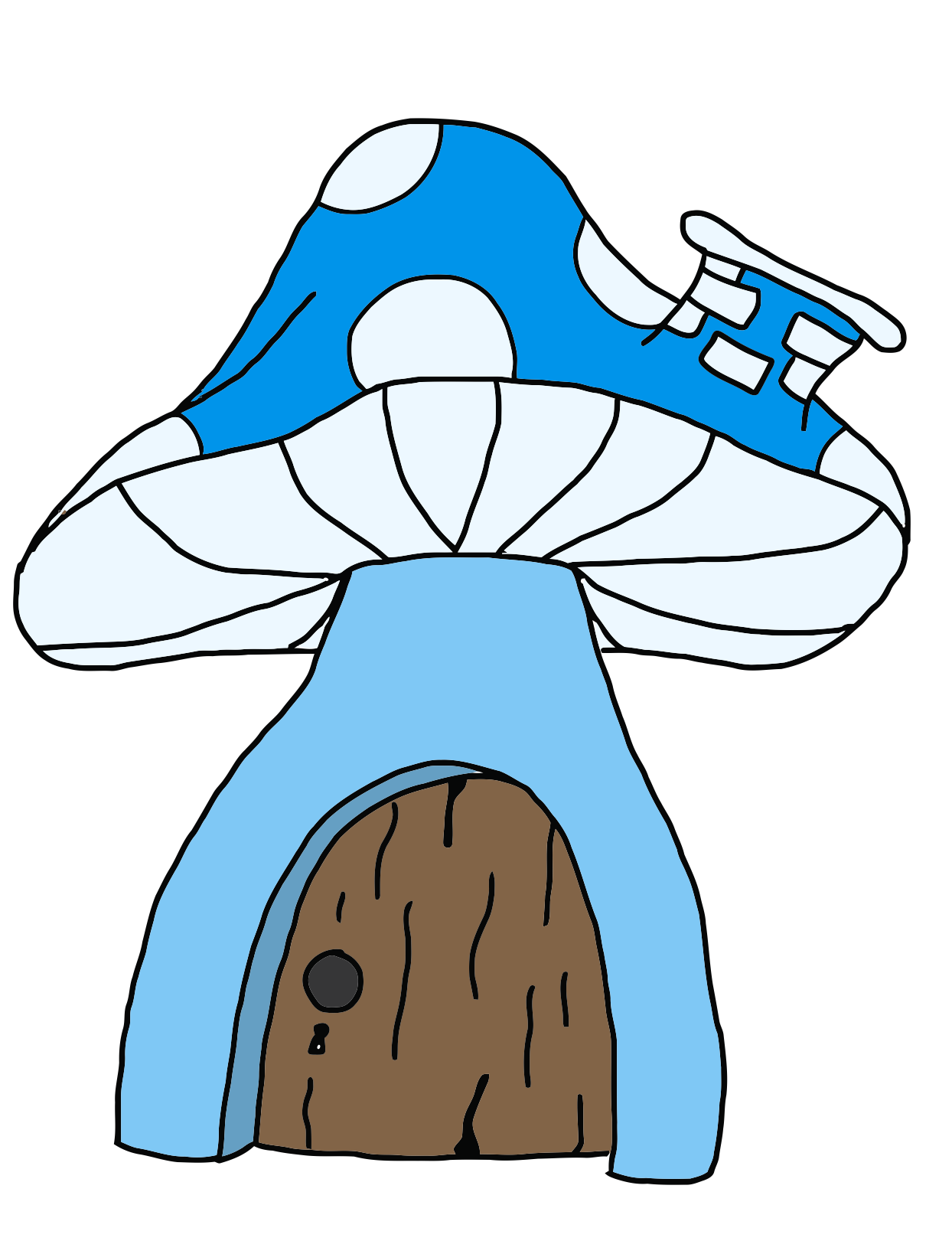 Drawing shrooms color. Champi on mushrooms