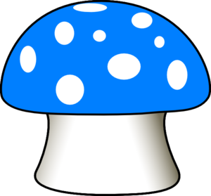 Mushrooms clipart blue mushroom. Clip art at clker