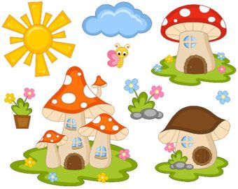 Mushrooms clipart woodland elf. Cute fairy tail mushroom