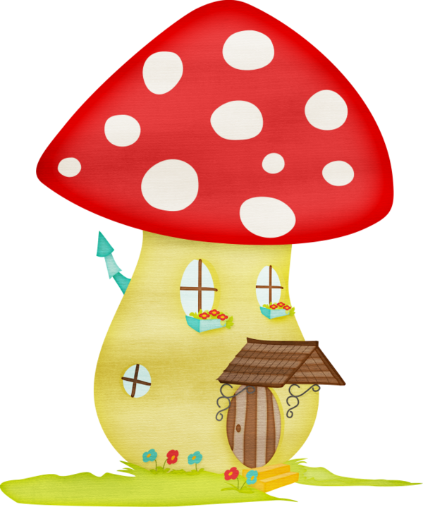 Mushrooms clipart woodland elf. Tubes champignons mushroom fairy