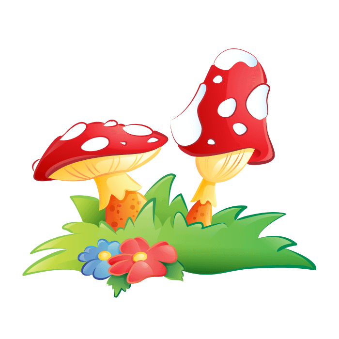 Mushrooms clipart woodland elf. Fairies and elves wall