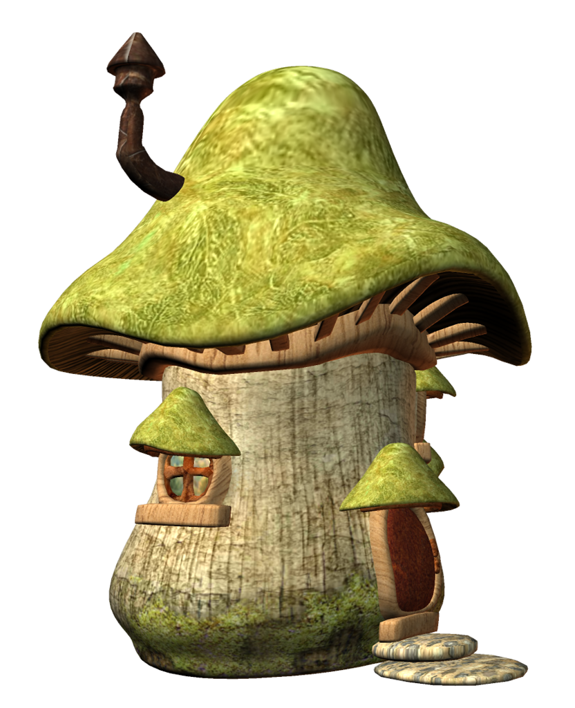 Mushrooms clipart woodland elf. Champign maison e