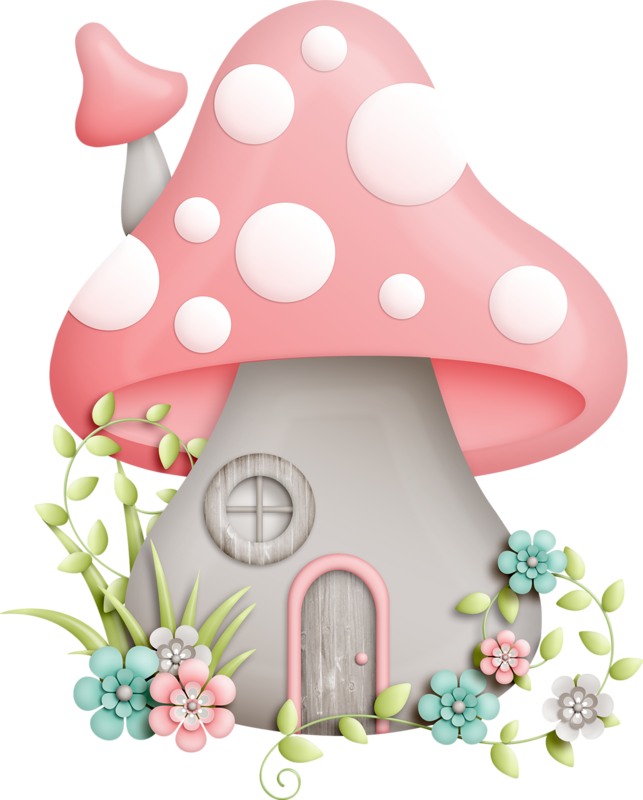 Mushrooms clipart woodland elf. Mushroom house pinterest