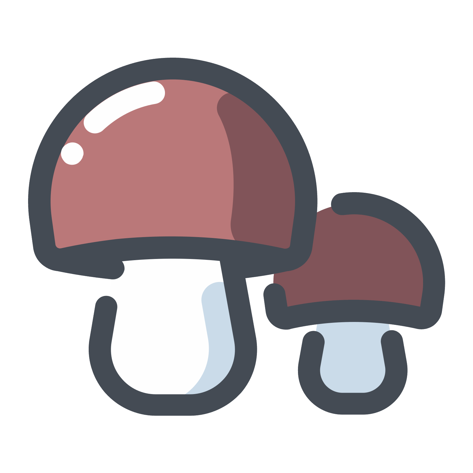 Mushrooms vector. Forest icon free download