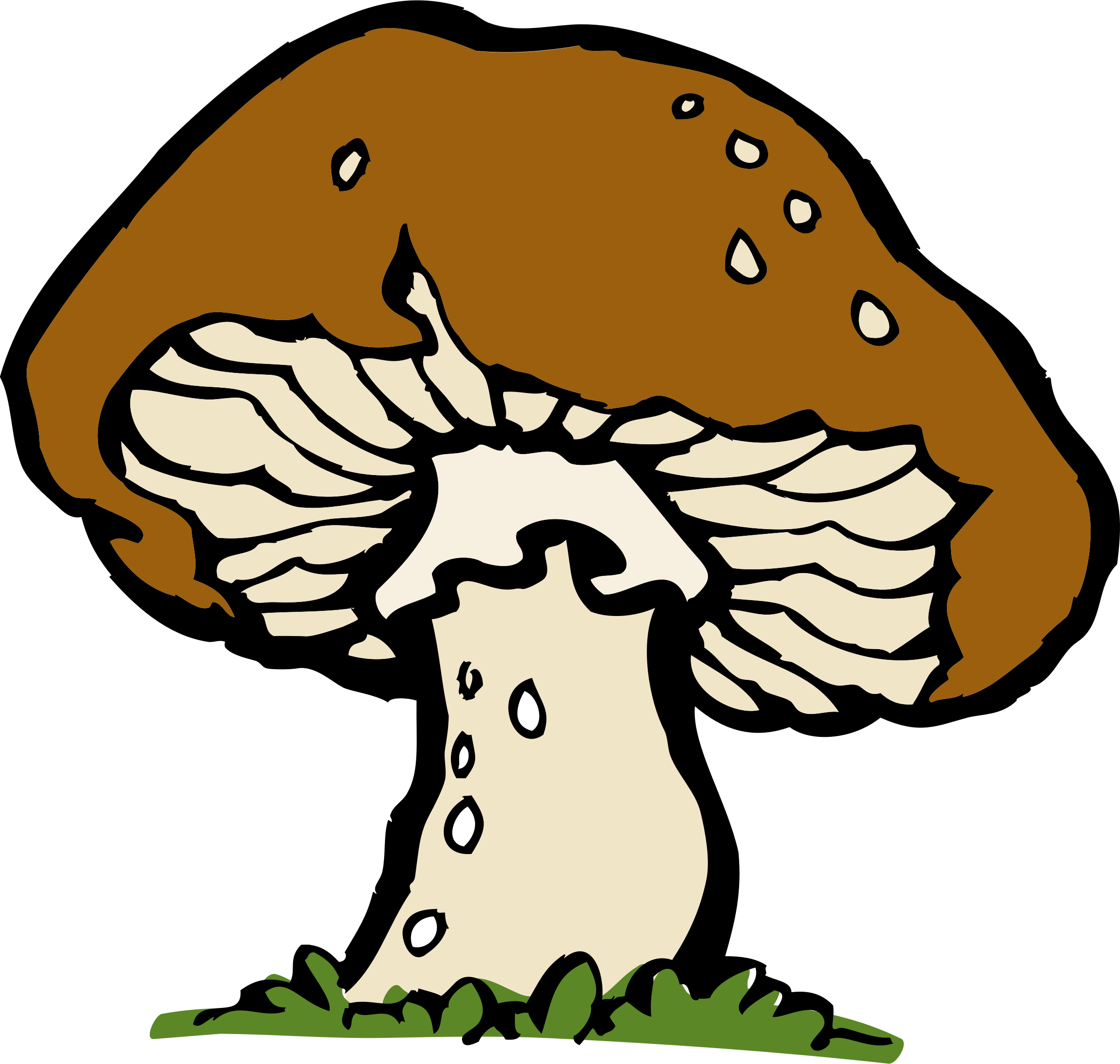 Mushrooms vector cartoony. Clipart free download best