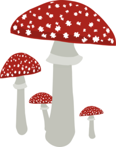 Mushrooms vector. Red topped clip art